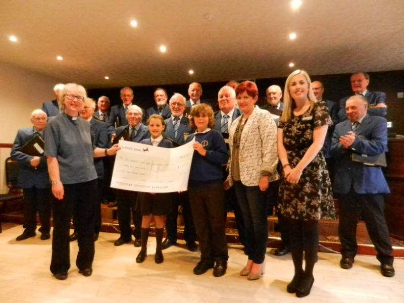 fundraising Barrow Mail Voice choir and St Peters School Ireleth